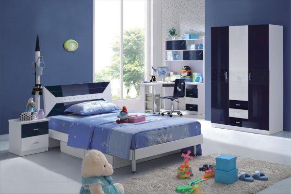 Desain kamar tidur anak perempuan minimalis warna biru - 1
