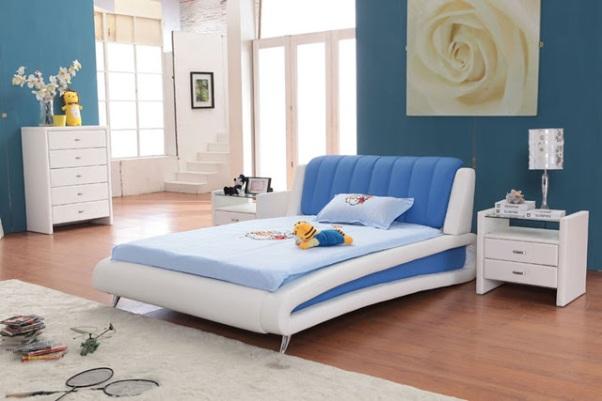 Desain kamar tidur anak perempuan minimalis warna biru - 5